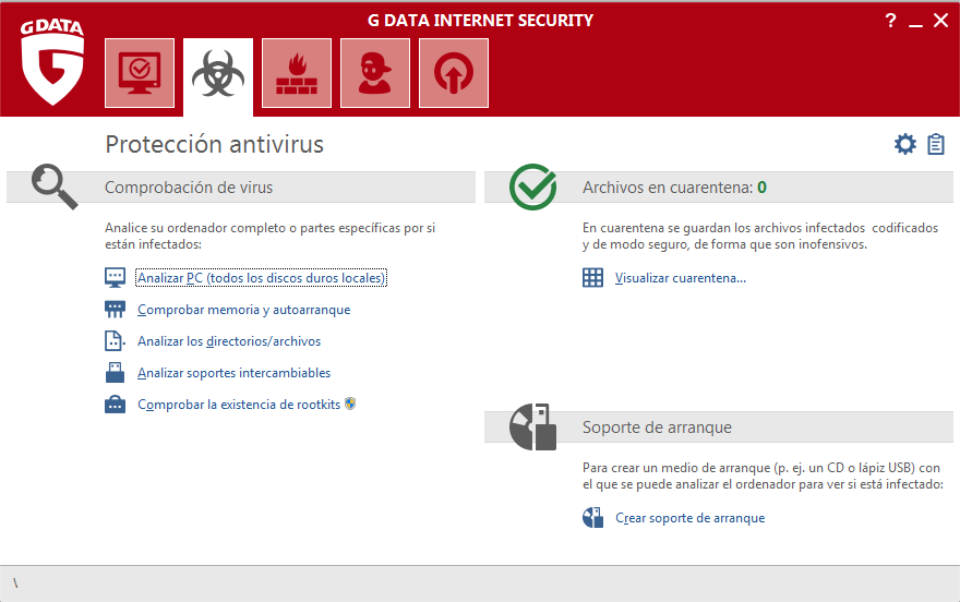 Screenshot G DATA Internet Security – Proteccion antivirus